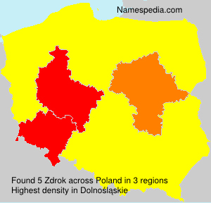 Surname Zdrok in Poland