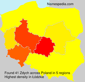 Surname Zdych in Poland