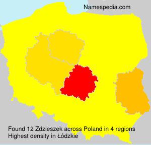 Surname Zdzieszek in Poland