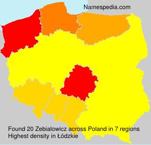 Surname Zebialowicz in Poland