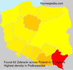 Surname Zebracki in Poland
