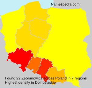 Surname Zebranowicz in Poland