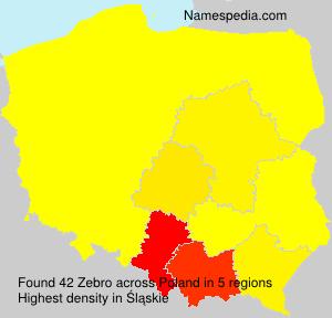 Surname Zebro in Poland