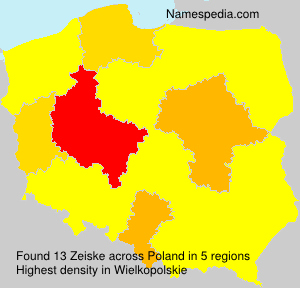 Surname Zeiske in Poland