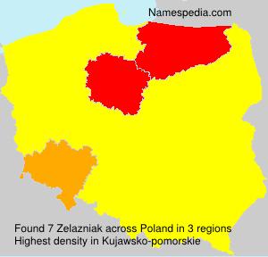 Surname Zelazniak in Poland