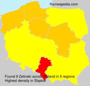 Familiennamen Zelinski - Poland