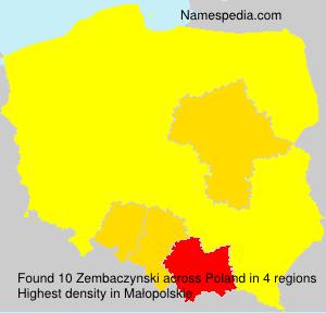 Surname Zembaczynski in Poland