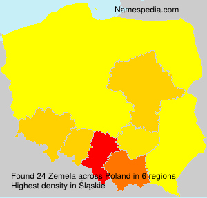 Surname Zemela in Poland