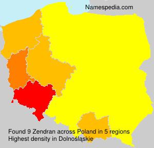Surname Zendran in Poland