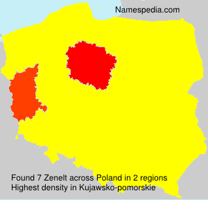 Surname Zenelt in Poland