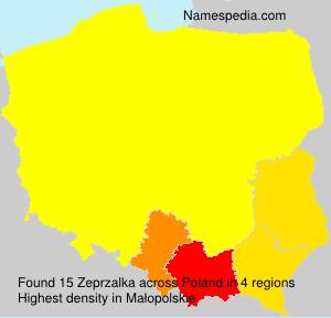 Surname Zeprzalka in Poland