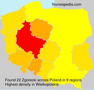 Surname Zgorecki in Poland