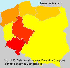 Surname Zielichowski in Poland