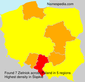 Surname Zielniok in Poland
