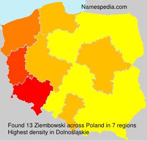 Surname Ziembowski in Poland