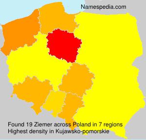 Surname Ziemer in Poland