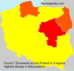 Surname Zieniewski in Poland