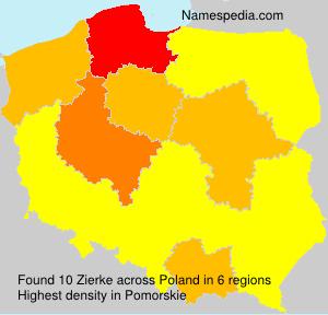 Surname Zierke in Poland