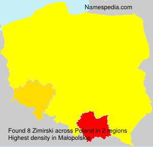 Surname Zimirski in Poland