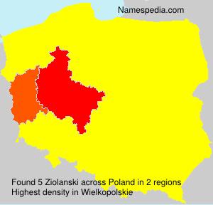 Familiennamen Ziolanski - Poland