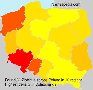 Familiennamen Zlobicka - Poland