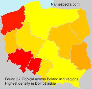 Familiennamen Zlobicki - Poland