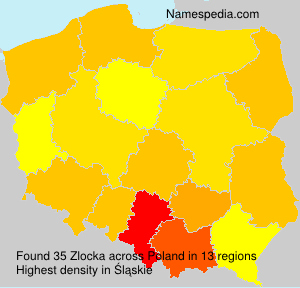 Familiennamen Zlocka - Poland