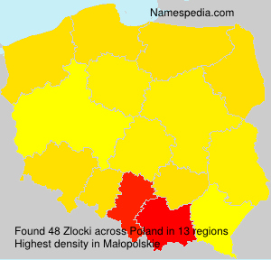 Familiennamen Zlocki - Poland