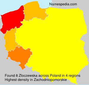 Familiennamen Zloczewska - Poland