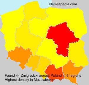 Surname Zmigrodzki in Poland