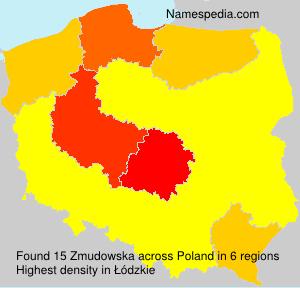 Surname Zmudowska in Poland