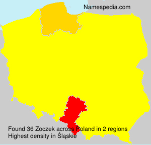 Surname Zoczek in Poland