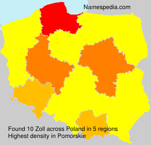 Surname Zoll in Poland