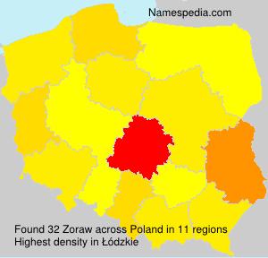 Familiennamen Zoraw - Poland