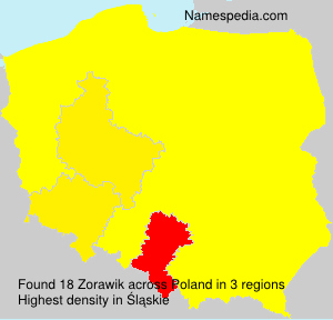 Surname Zorawik in Poland