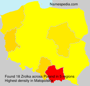 Surname Zrolka in Poland