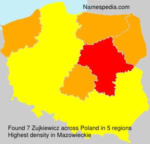Surname Zujkiewicz in Poland