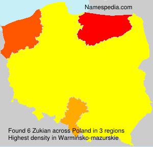 Familiennamen Zukian - Poland