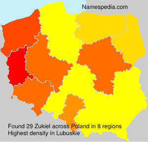 Surname Zukiel in Poland