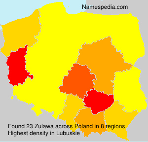 Surname Zulawa in Poland