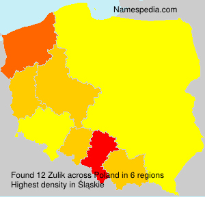 Surname Zulik in Poland