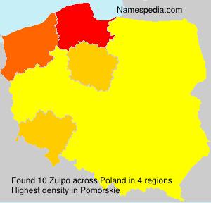 Familiennamen Zulpo - Poland