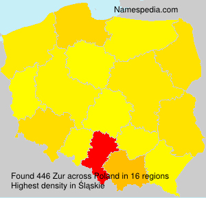 Surname Zur in Poland