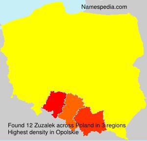 Surname Zuzalek in Poland