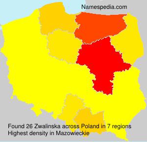 Surname Zwalinska in Poland