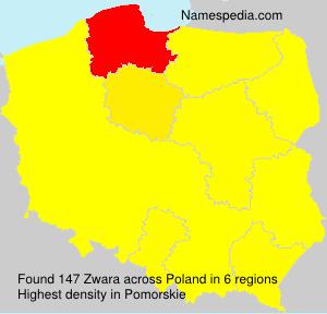 Surname Zwara in Poland