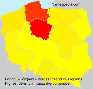 Surname Zygowski in Poland