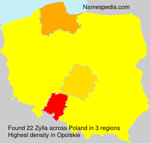 Surname Zylla in Poland