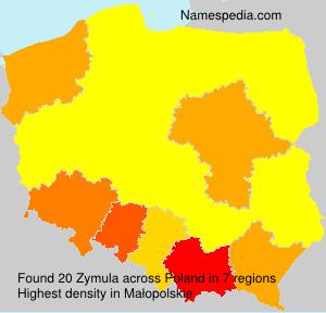 Surname Zymula in Poland