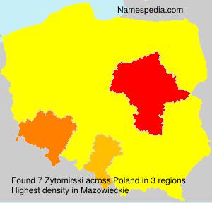 Surname Zytomirski in Poland